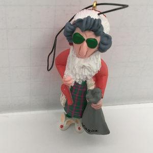 shoebox greetings Maxine old lady santa ornament